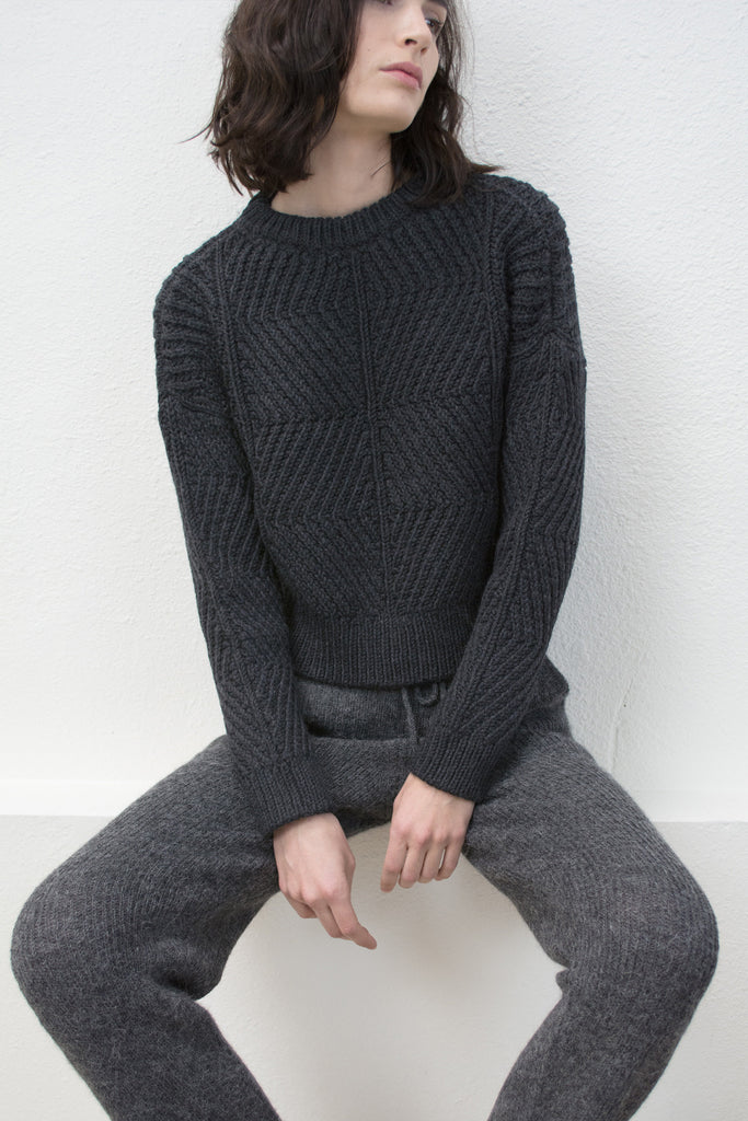 Charcoal Bevel Sweater (*NEW COLOR*)