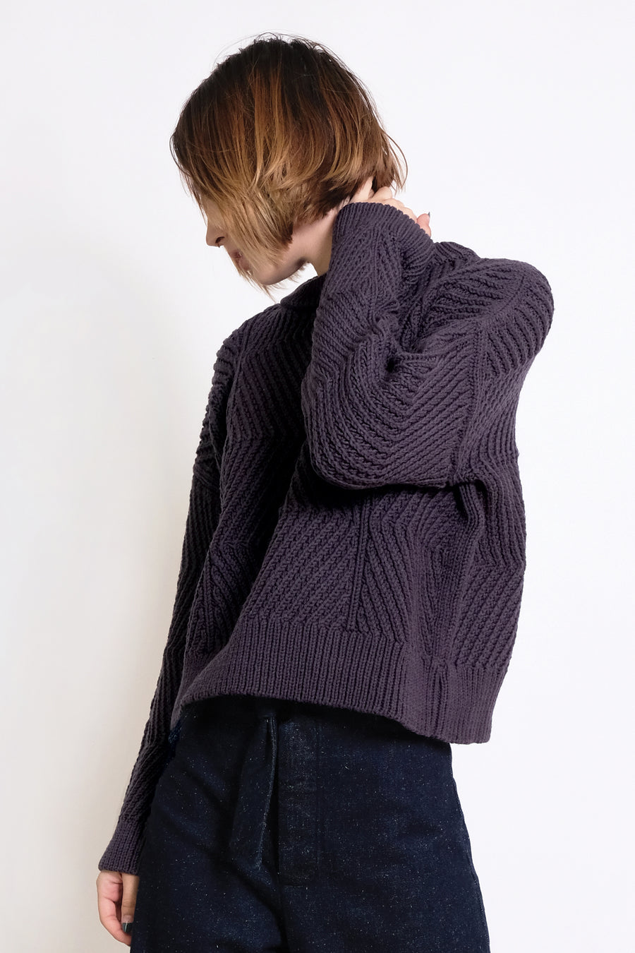 Lapis Bevel Sweater