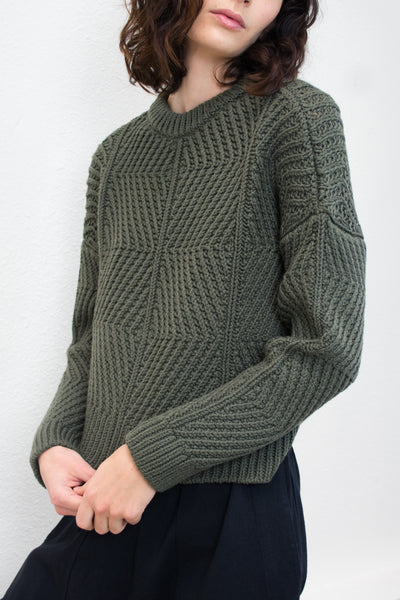 Olive Bevel Sweater