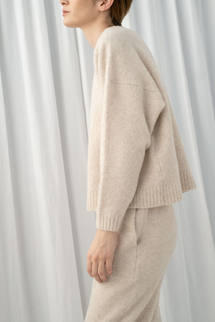 Melange Cream Boucle Sweater