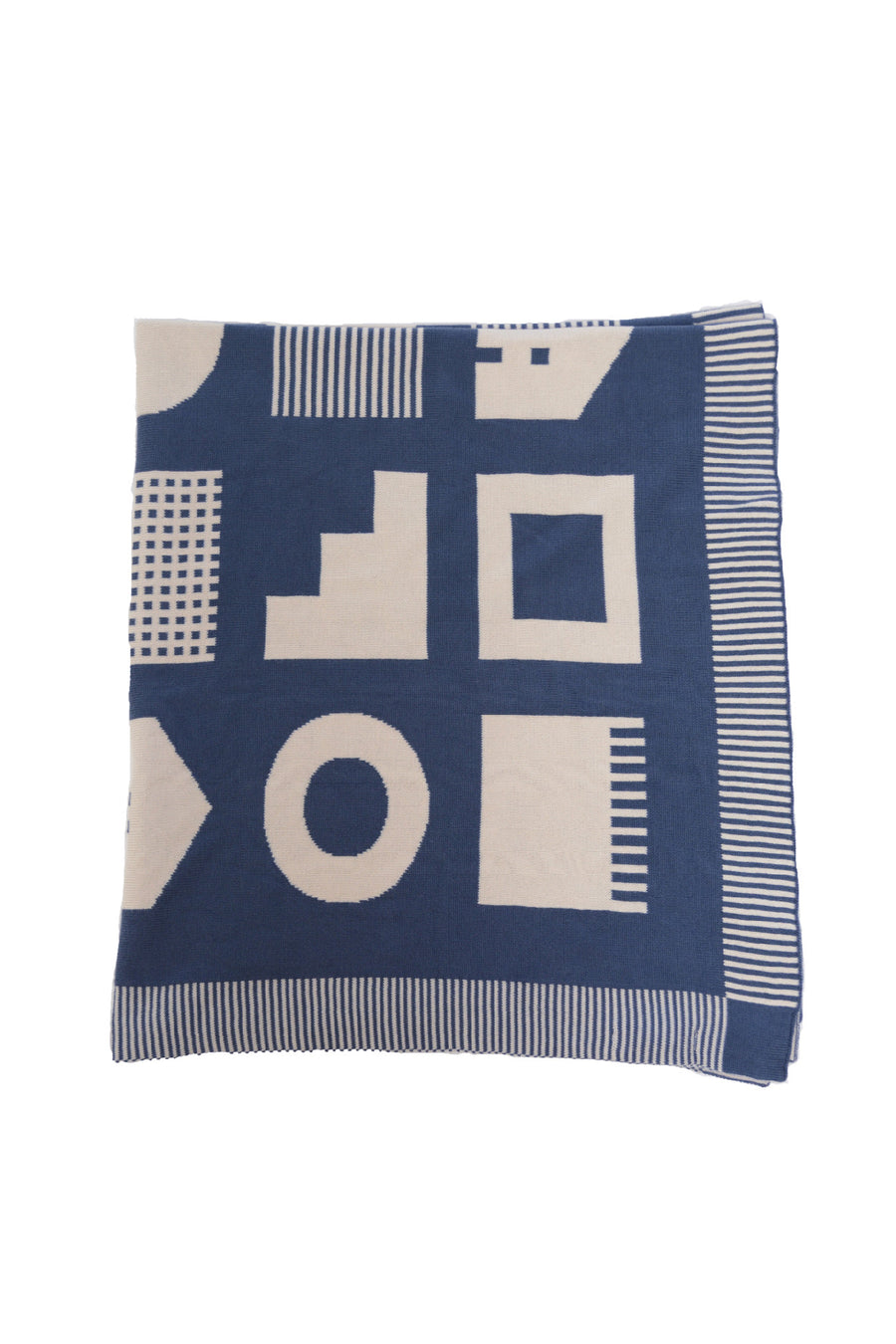 Navy Box House Blanket