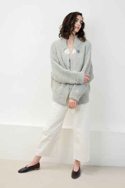 Melange Grey Chain Cardigan
