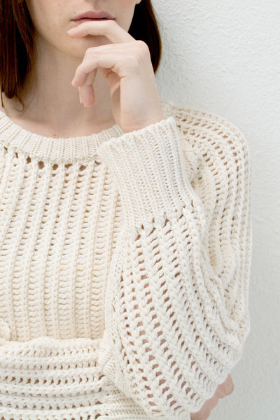 Cream Chain Sweater