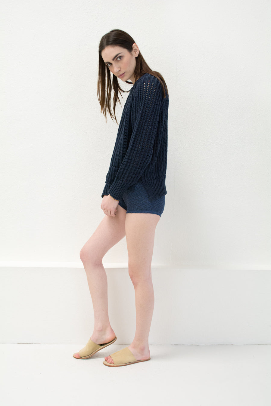 Navy Chain Sweater