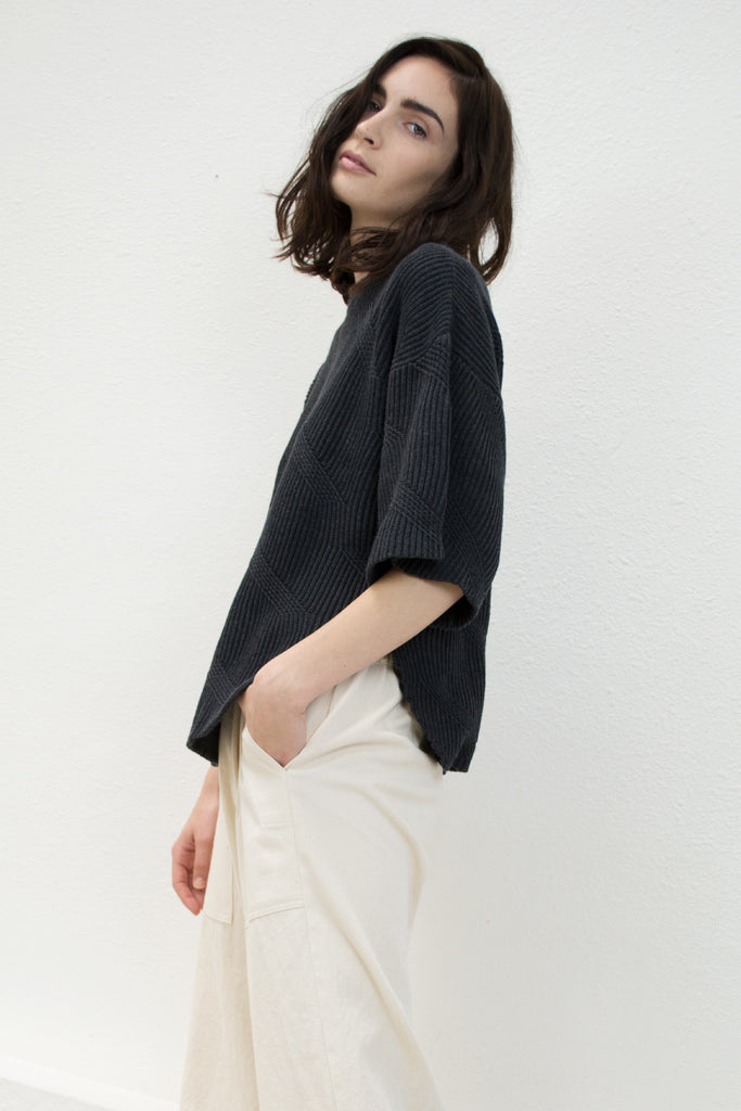 Melange Black Dash Sweater