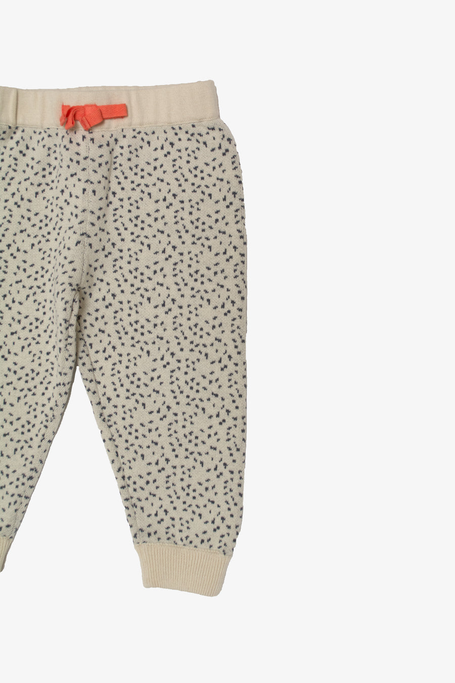 Black / Cream Dot Sweatpant