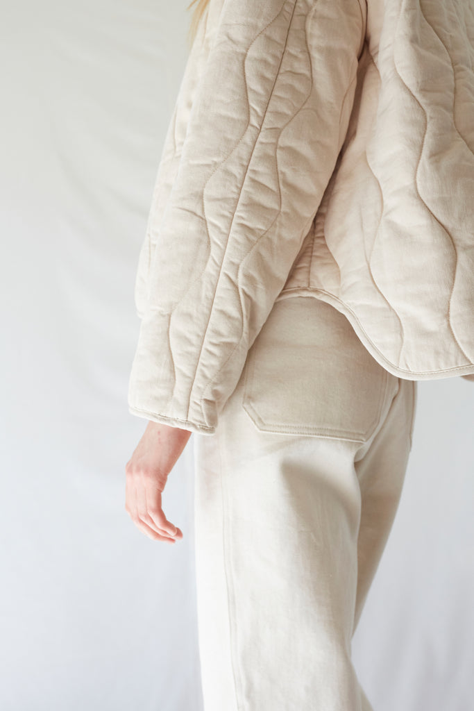 Pearl Dune Quilted Jacket
