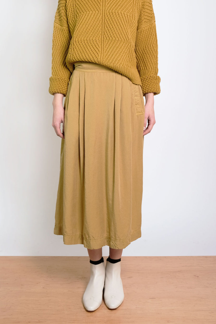 Ochre Ellis Pleated Skirt