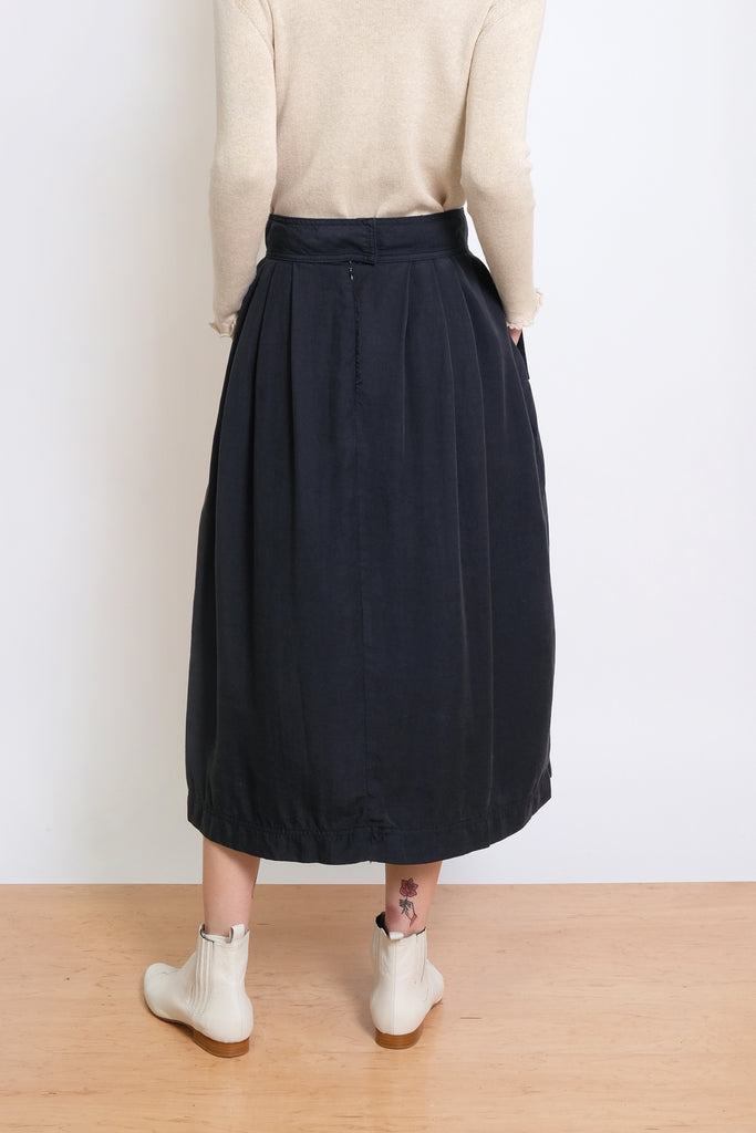 Midnight Blue Ellis Pleated Skirt