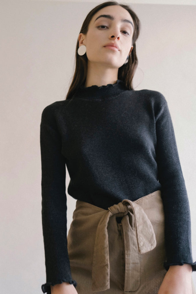 Black Extrafine Turtleneck