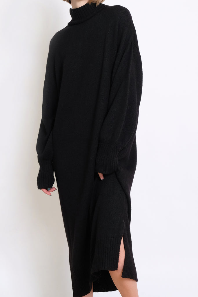 Black Gia Sweater Dress