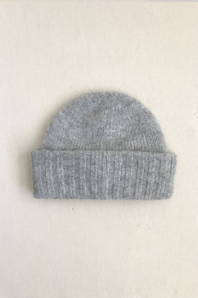 Heather Grey Wooly Beanie