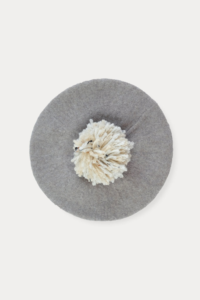 Heather Grey Kids Beret