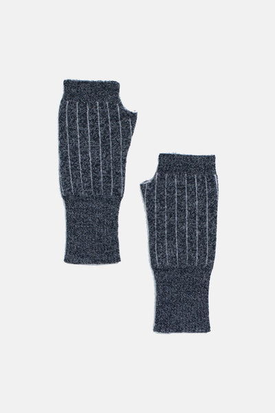 Speckle Grey Pinstripe Fingerless Gloves