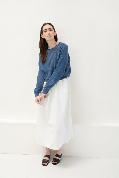 Indigo Crop Sweater