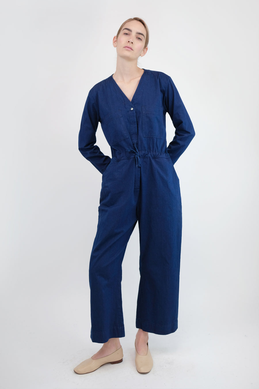 True Blue Denim Tie Coverall
