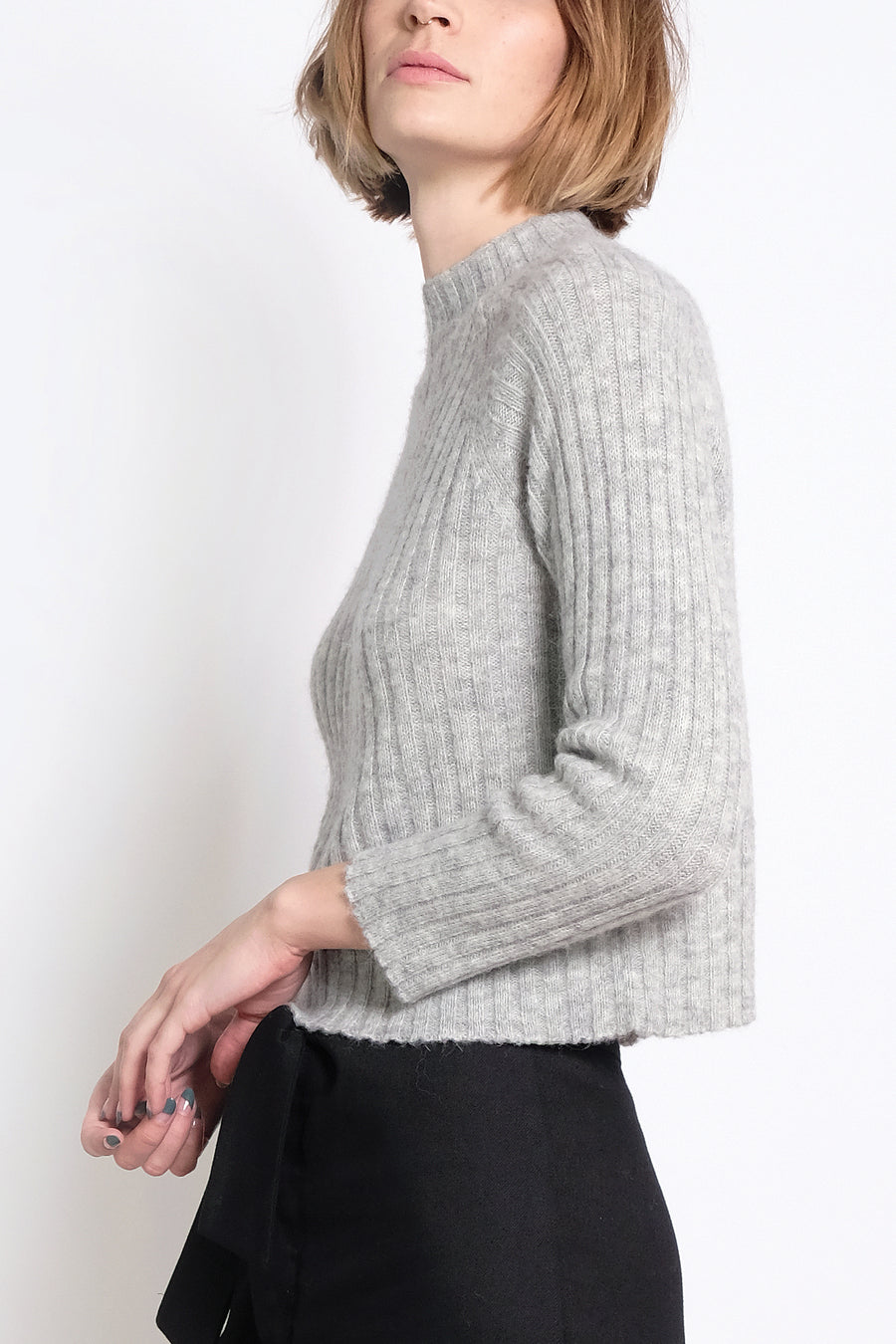 Heather Grey Isa Rib Top