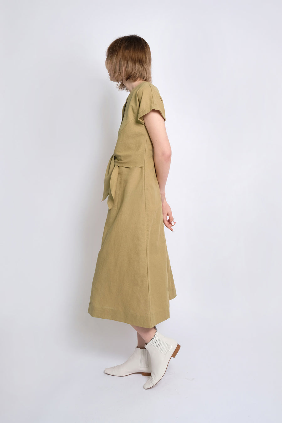 Moss Knotted Dress