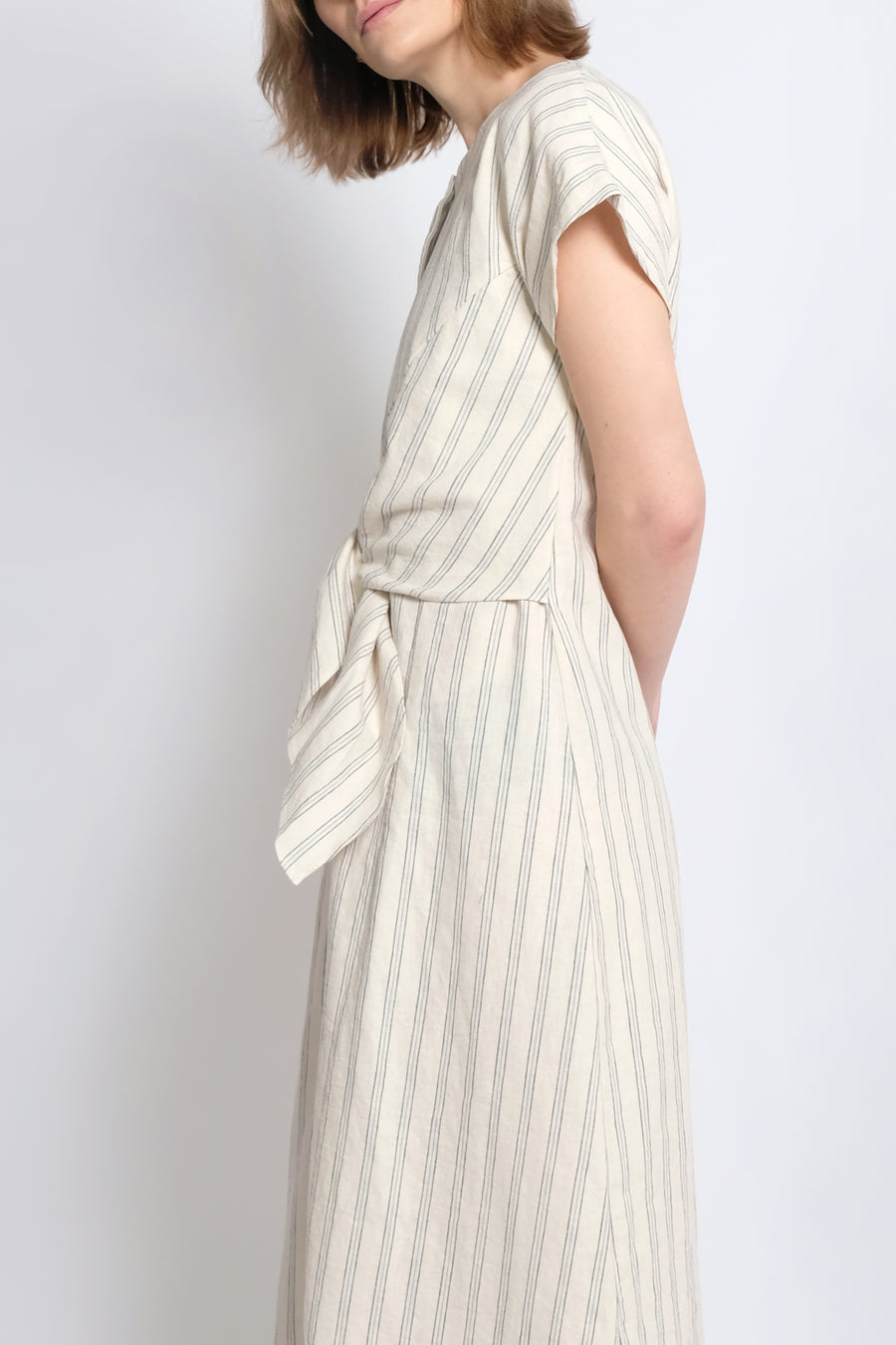 Stripe  Knotted Dress