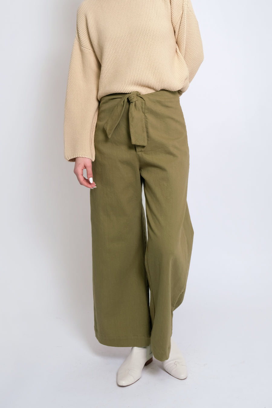 Green Tea Knotted Sailor Pant