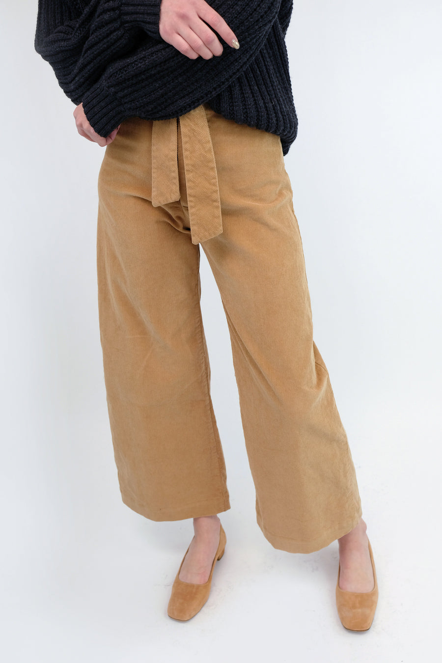 Honey Corduroy Knotted Sailor Pant