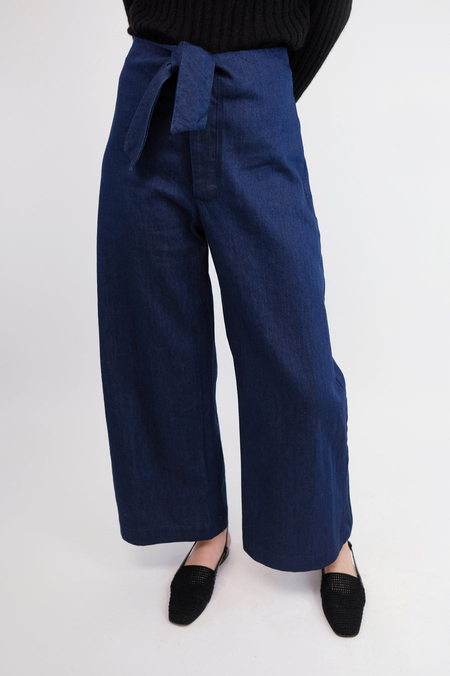 Vintage Blue Knotted Sailor Pant