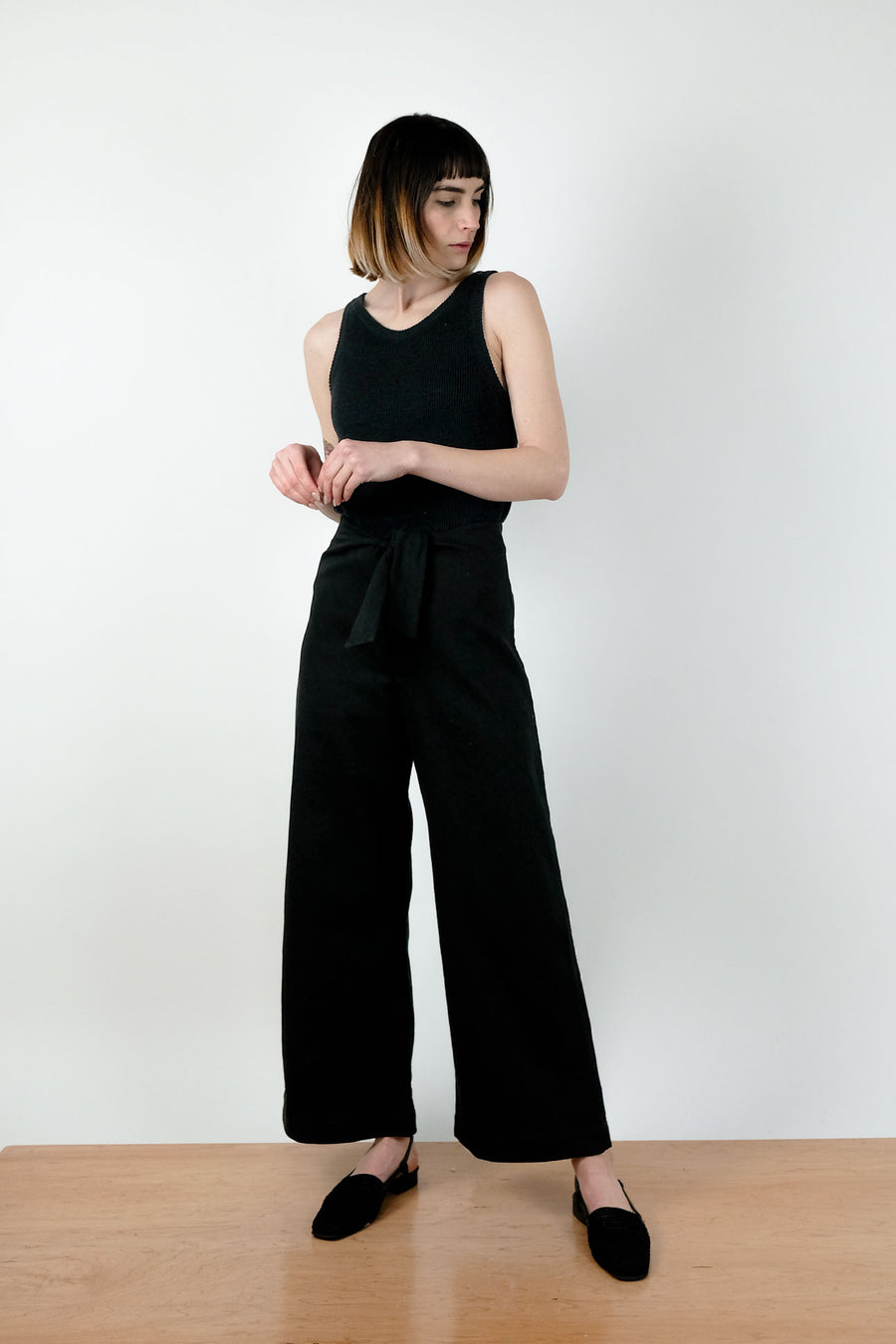 Black Knotted Sailor Pant