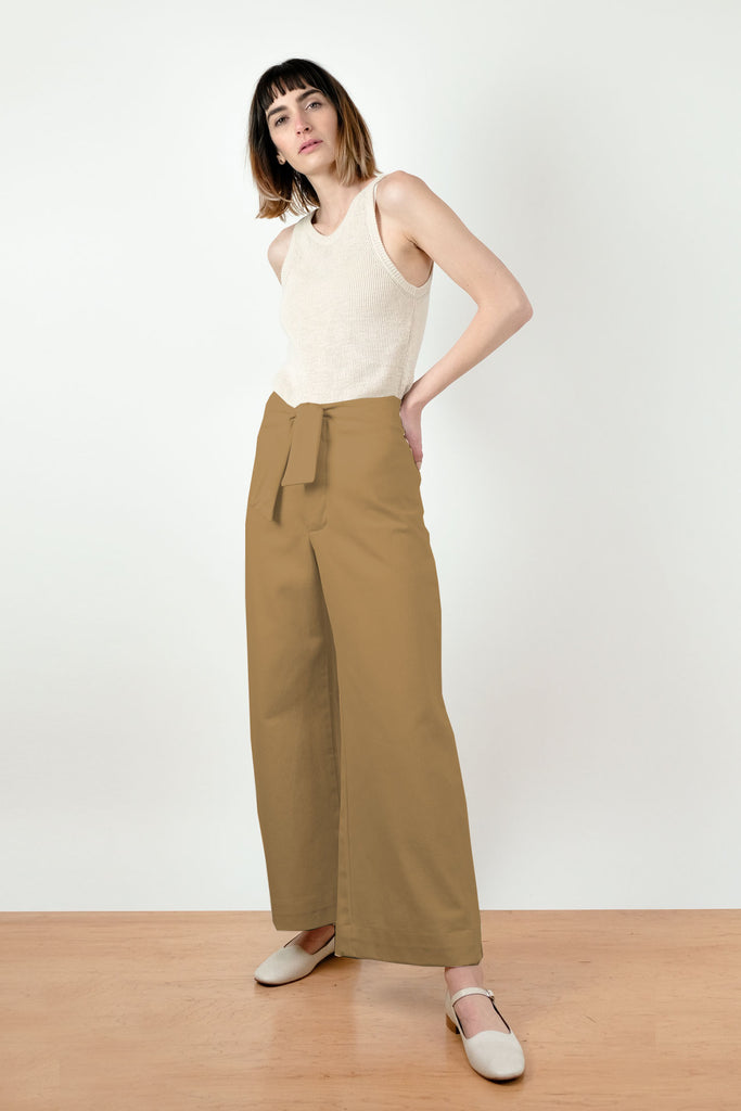 Golden Knotted Sailor Pant