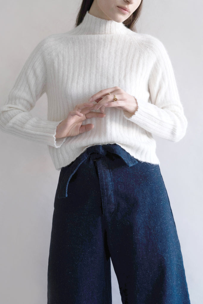 Handspun Denim Knotted Sailor Pant