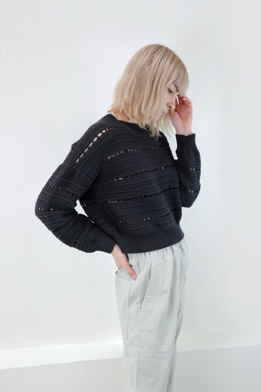 Faded Black Lune Sweater