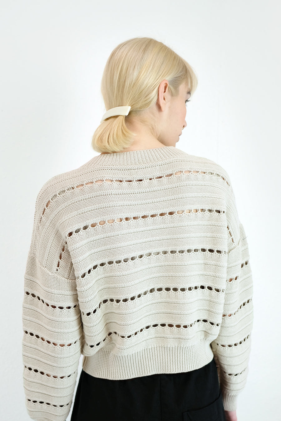 Cream Lune Sweater