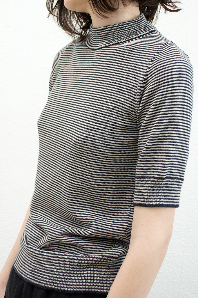 Black & White Mini Stripe Top