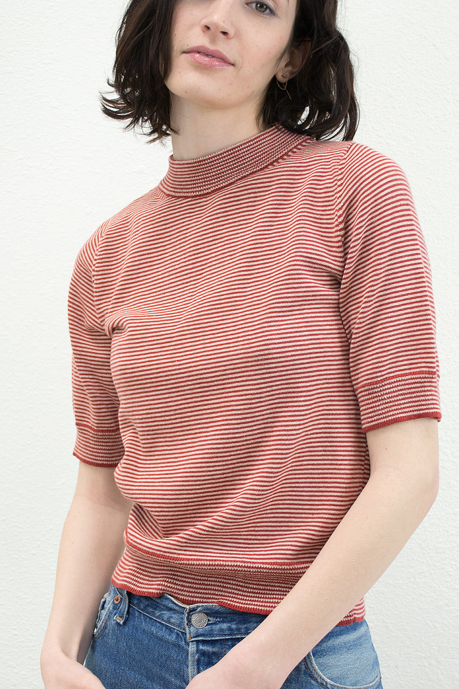 Scarlet & Nude Mini Stripe Top