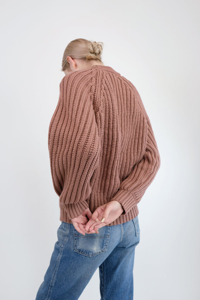 Copper Miter Rib Sweater