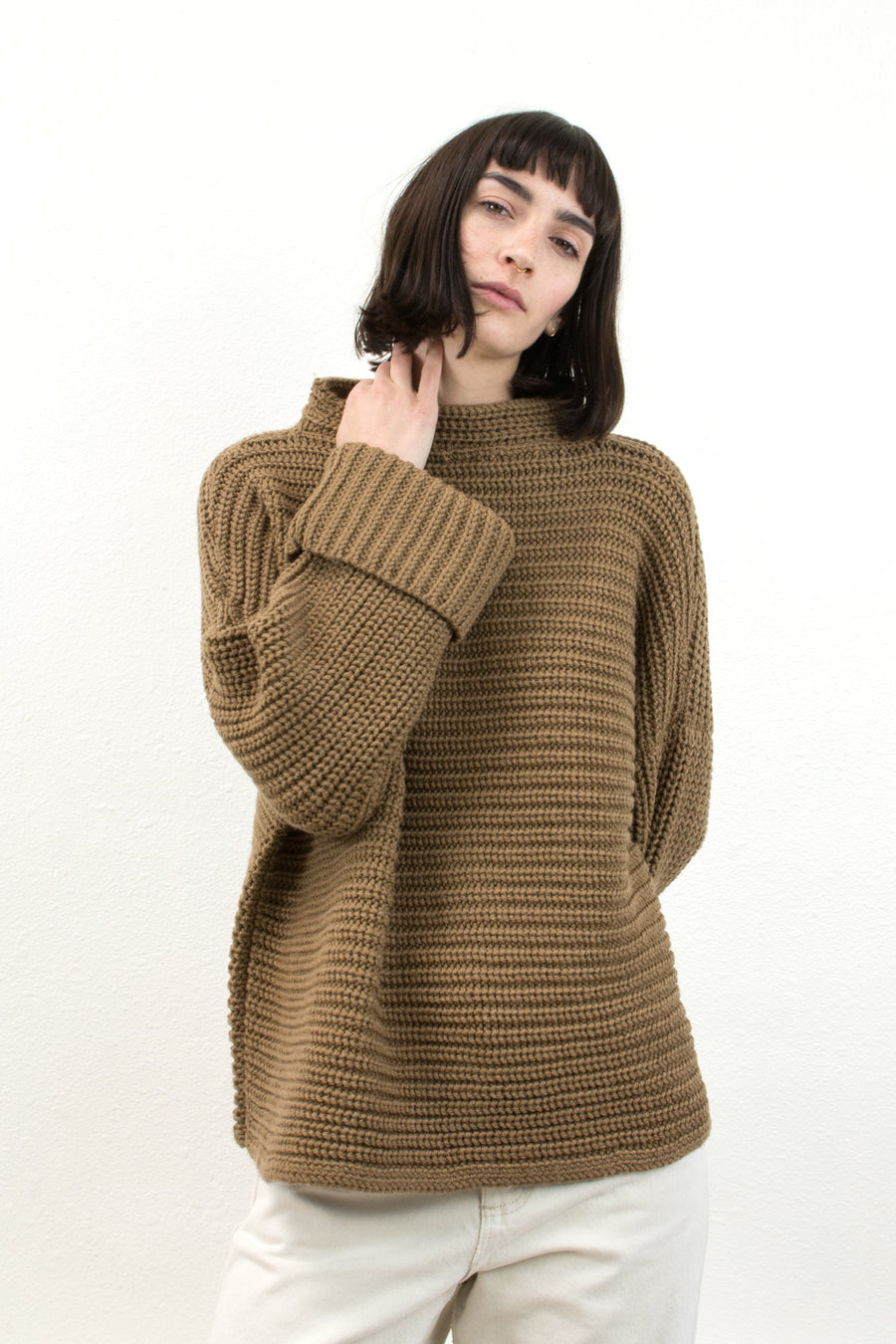 Caramel Parallel Sweater