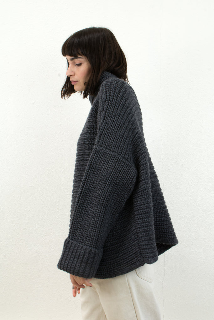 Melange Grey Parallel Sweater