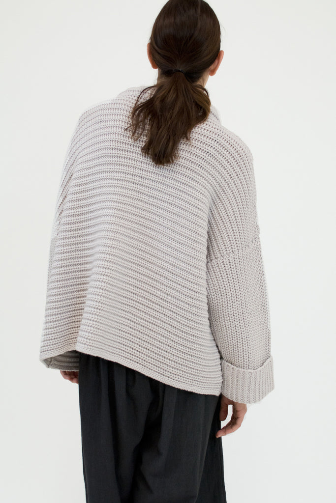 Pale Silver Parallel Sweater
