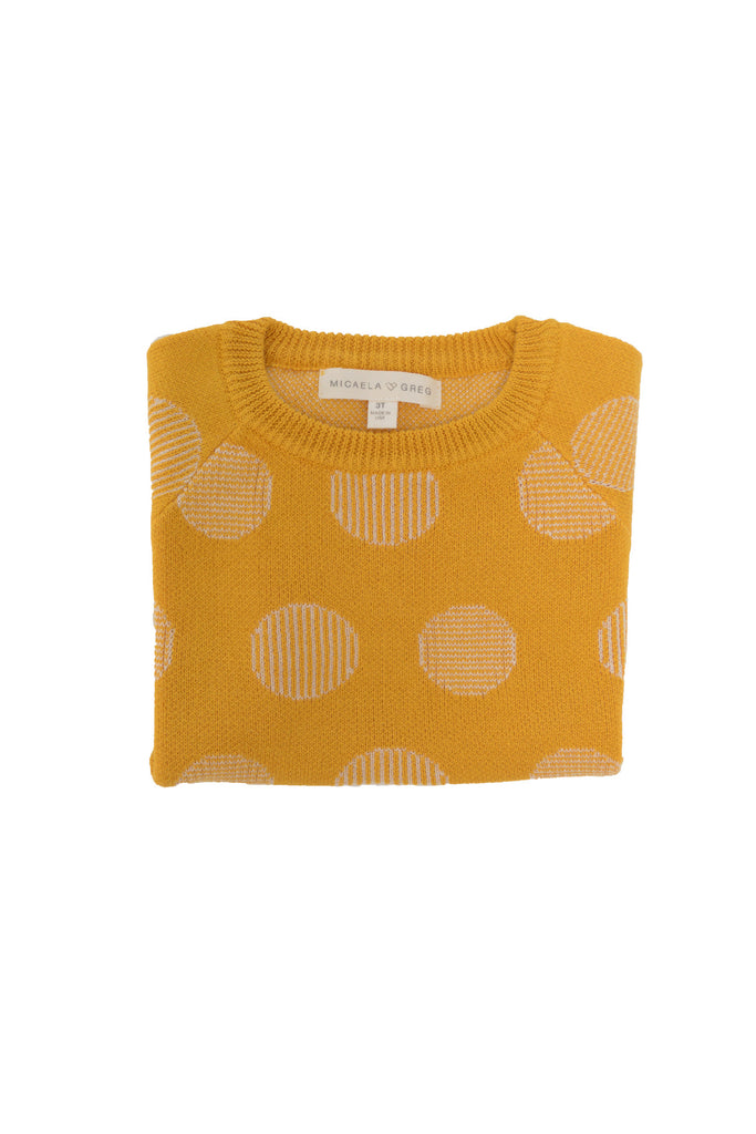 Gold Pinstripe Dot Sweater