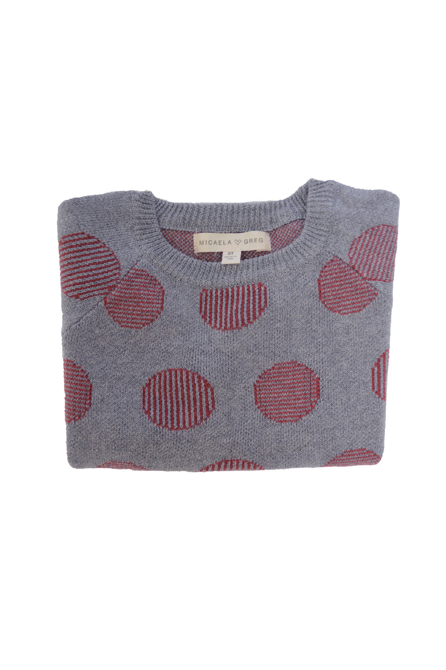 Grey Pinstripe Dot Sweater