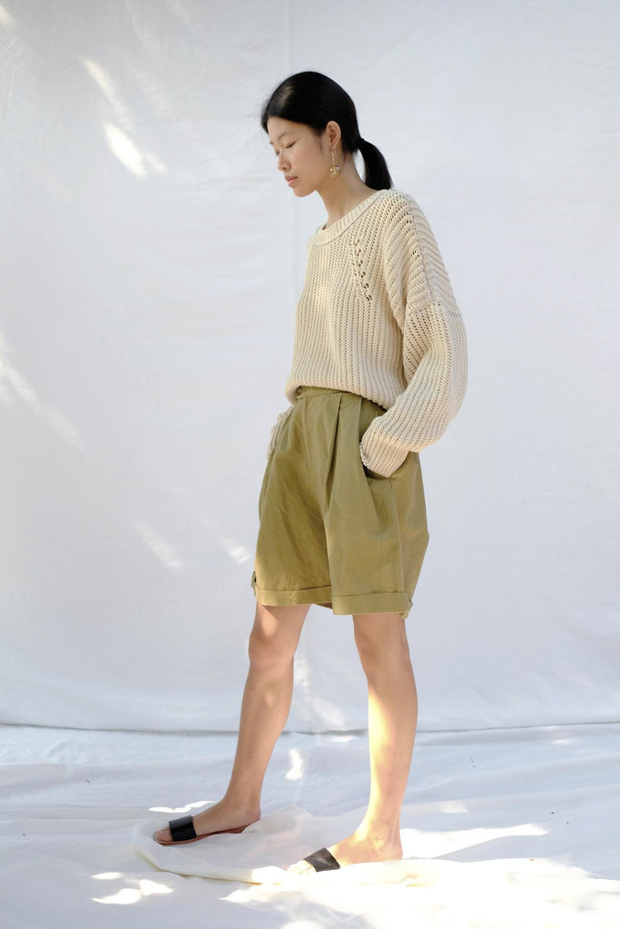 Lichen Pleated Short