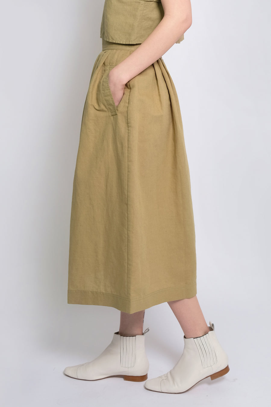 Moss Ellis Pleated Skirt