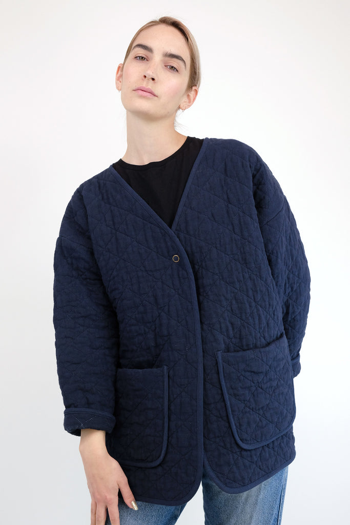 Midnight Blue Quilted Jacket