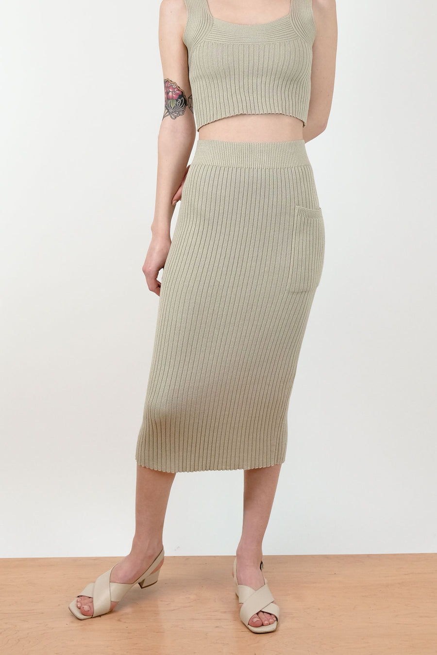 Aloe Rae Rib Skirt