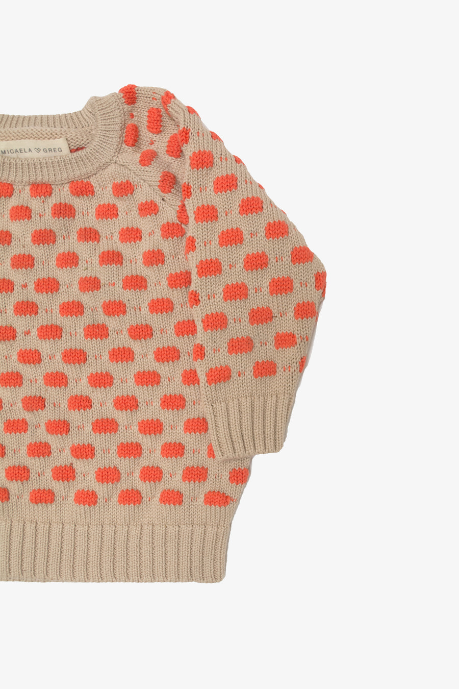 Coral Raised Dot Sweater