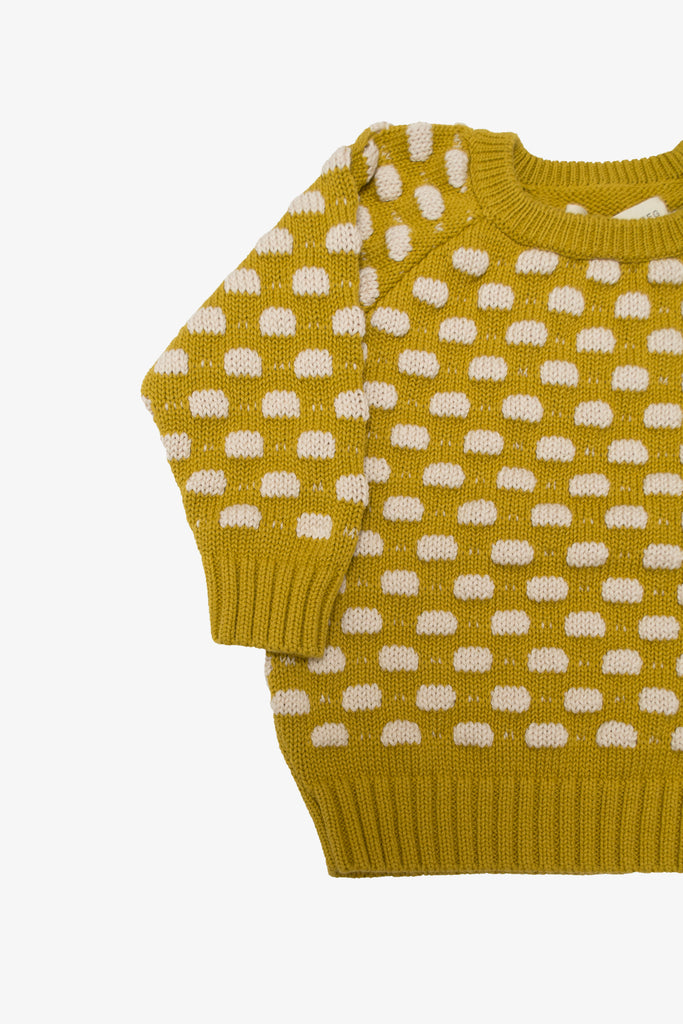 Mustard  Raised Dot Sweater