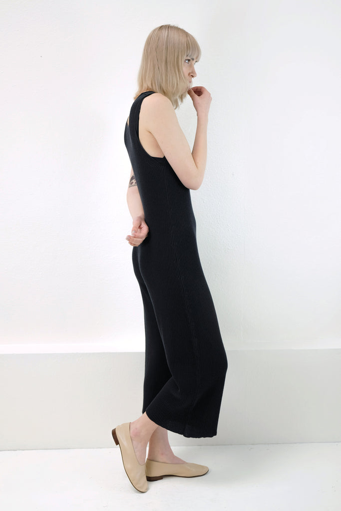 Faded Black Rib Jumpsuit -