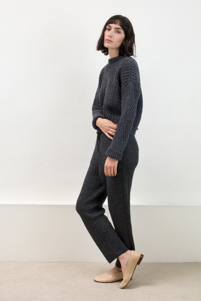 Melange Grey Rib Sweat