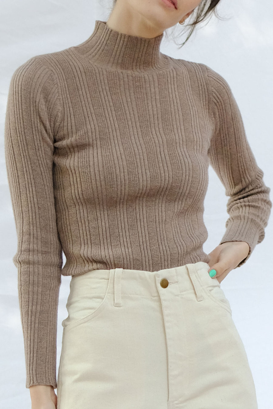 Camel Rib Turtleneck