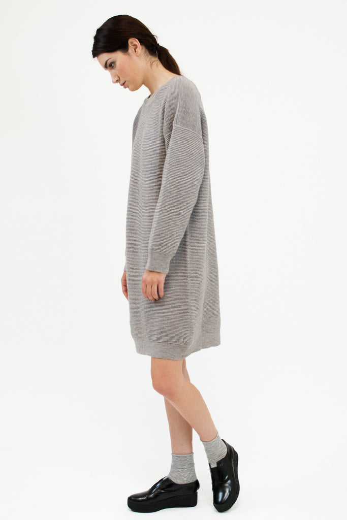 Ripple Dress Dove Grey