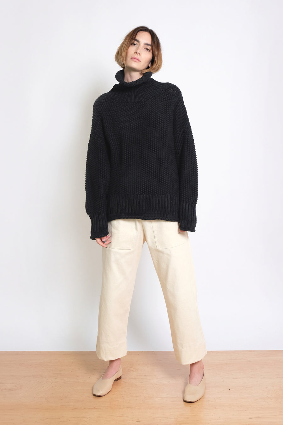 Midnight Roll Neck Seed Sweater